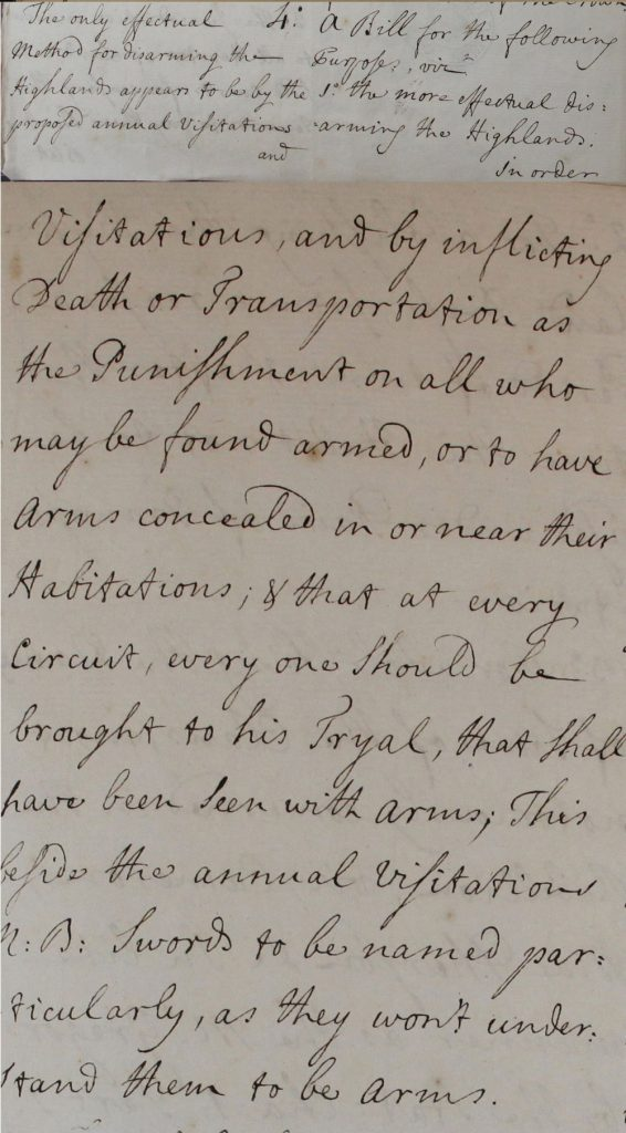 Extraits d'un brouillon de règlement proposé pour être appliqué en Ecosse, 28 juin 1746, partie 3
