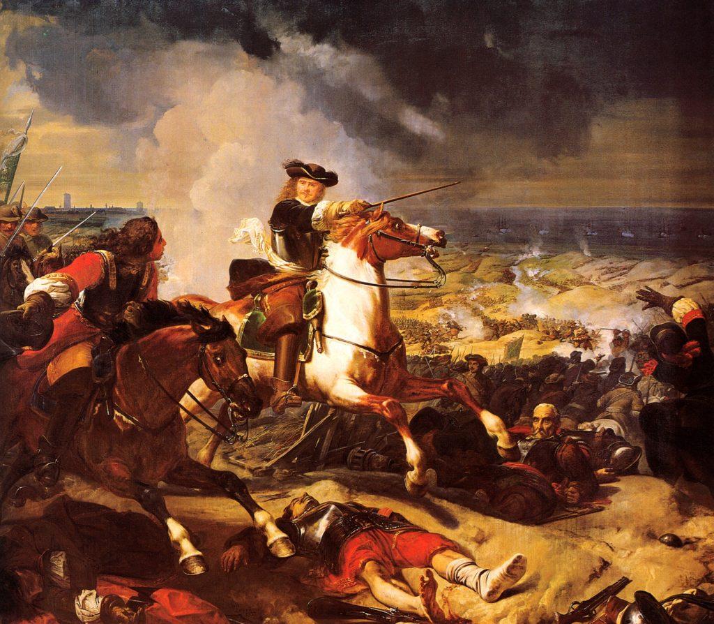 La bataille des Dunes, par Charles Philippe Larivière - 1837