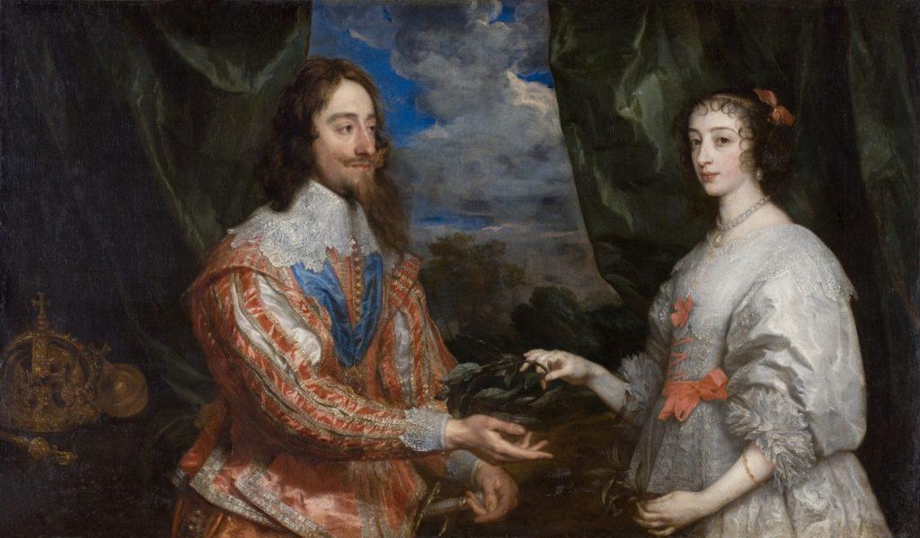 Charles Ier et Henriette, par Anthony Van Dyck, 1634