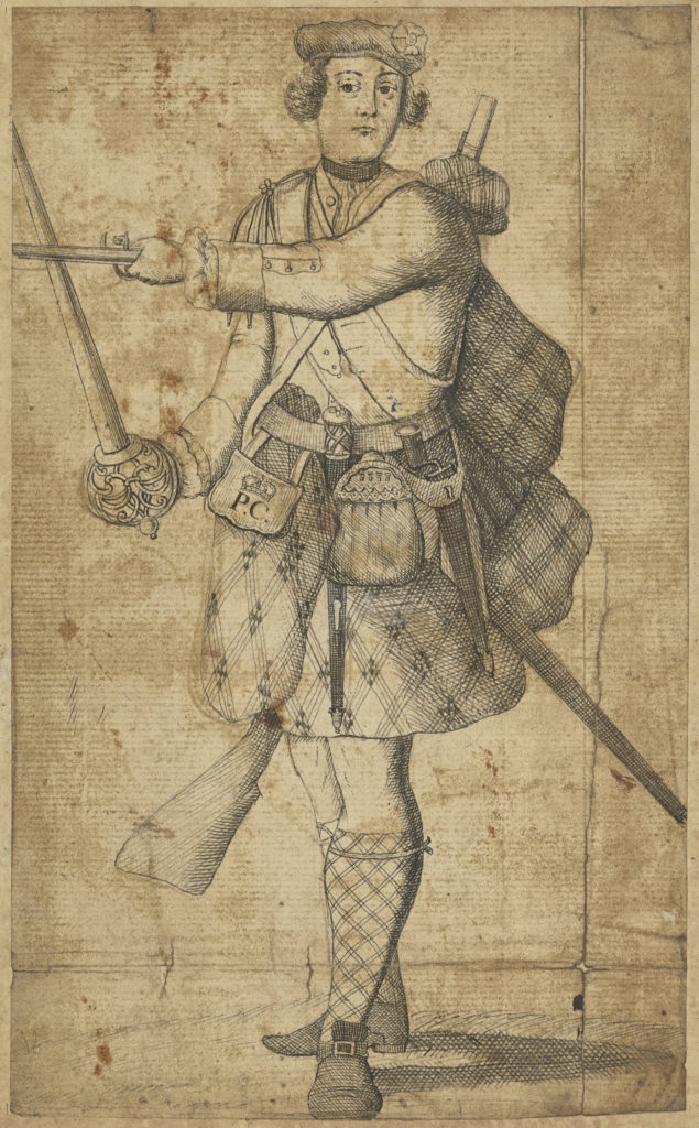 Malcolm McPherson, déserteur mort en 1743 - artiste inconnue - date inconnue (ref. PG 2298 National Galleries Scotland)