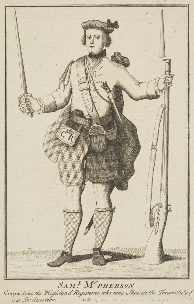 Samuel McPherson, déserteur mort en 1743 - artiste inconnue - date inconnue (ref. SP III 144.1 National Galleries Scotland)
