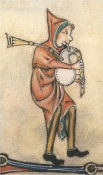sonneur (Source : Gorleston Psalter, 1310-1320)