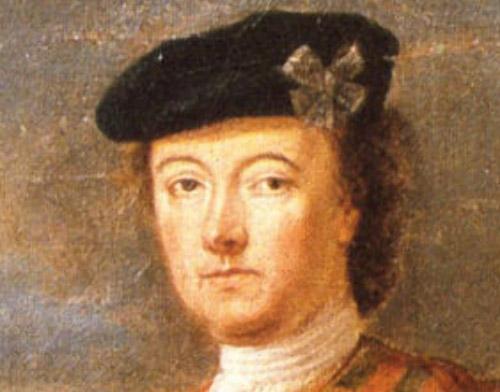 Lord George Murray, détail - auteur inconnu - XVIIIème siècle Lord George Murray, Commandant en chef de l'armée jacobite - auteur inconnu - XVIIIème siècle