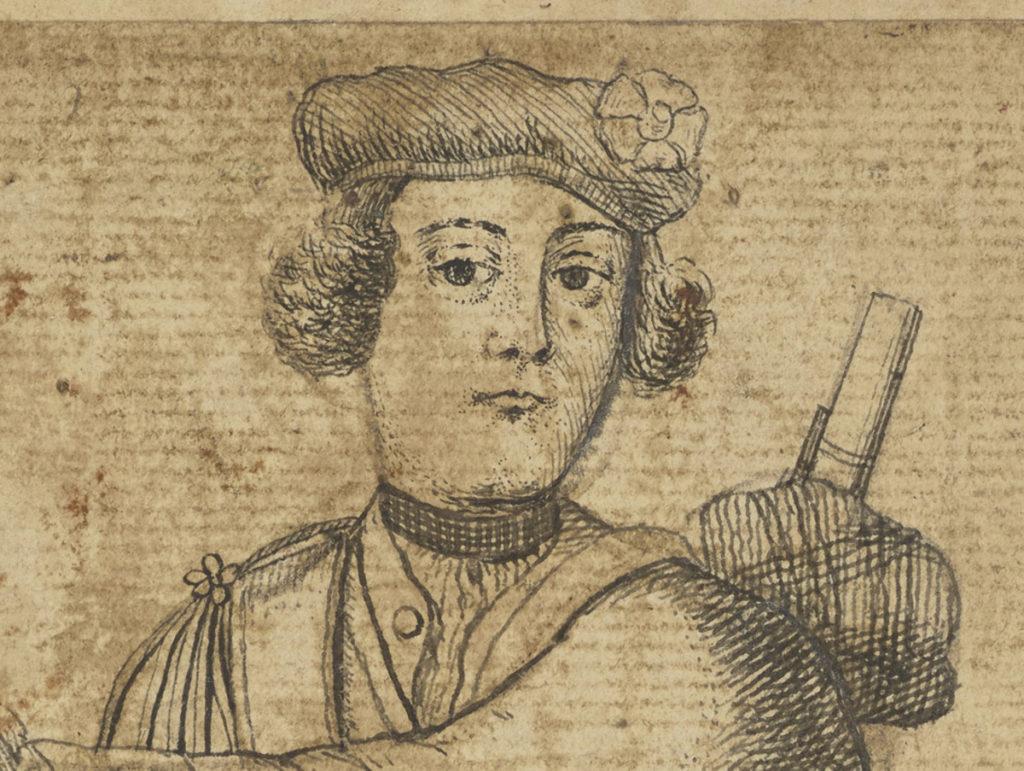 Malcolm McPherson, déserteur mort en 1743, détail  - artiste inconnue - date inconnue (ref. PG 2298 National Galleries Scotland)