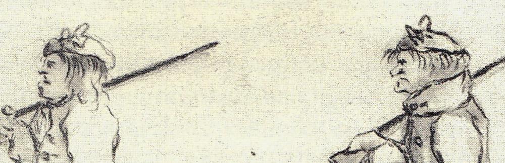 Dessins de Penicuik, 1745/46 - détail