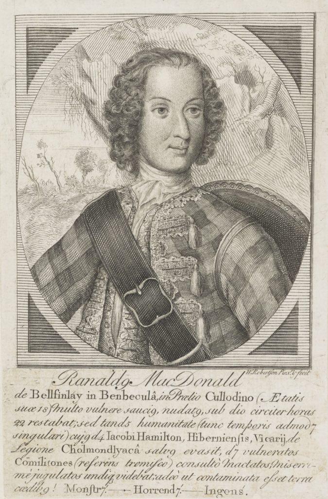 Ranald MacDonald of Belfinlay par William Robertson, avant 1746, Ref. SP III 75.3 National Galleries of Scotland