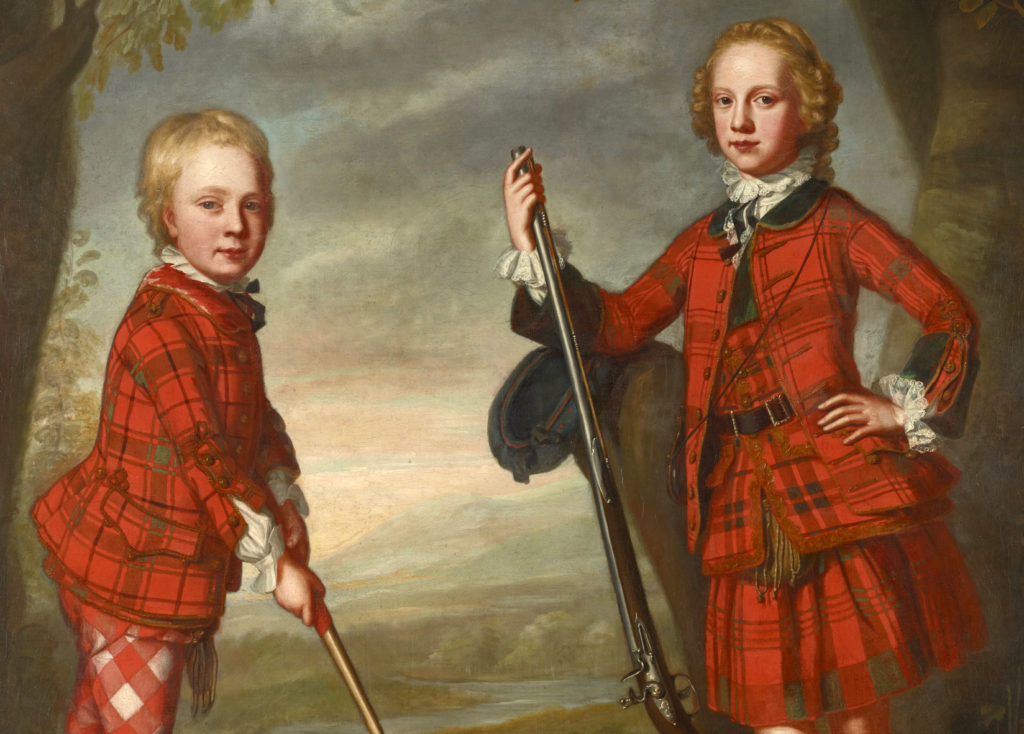 James et Alexander MacDonald - détail, par William Mosman, vers 1749 - Ref. PG 2127 National Galleries of Scotland