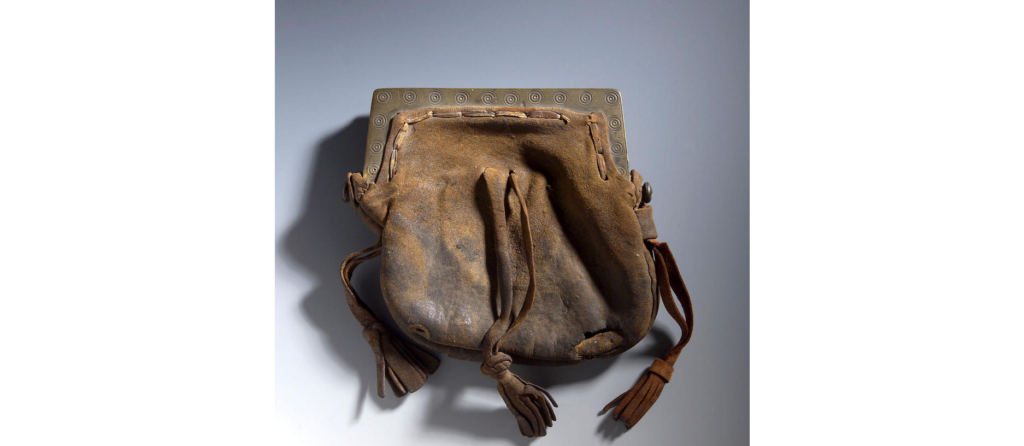 sporran 18e siècle - cuir et laiton