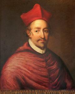 Cardinal David Beaton - auteur inconnu - peint au 18e siècle d'après une œuvre du 16e siècle