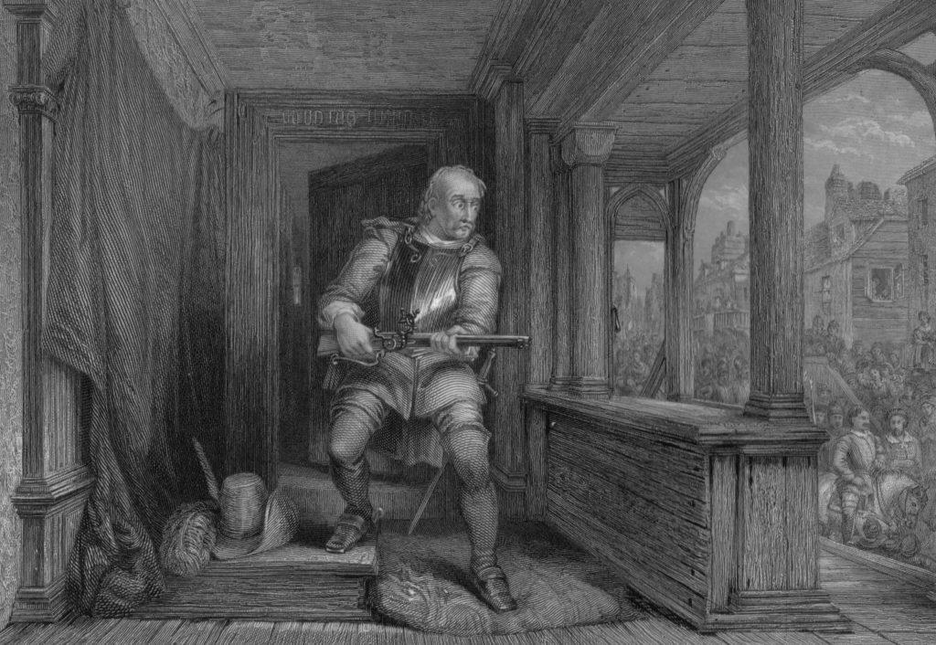 James Hamilton assassinant James Stuart - par G. Cattermole - 1835