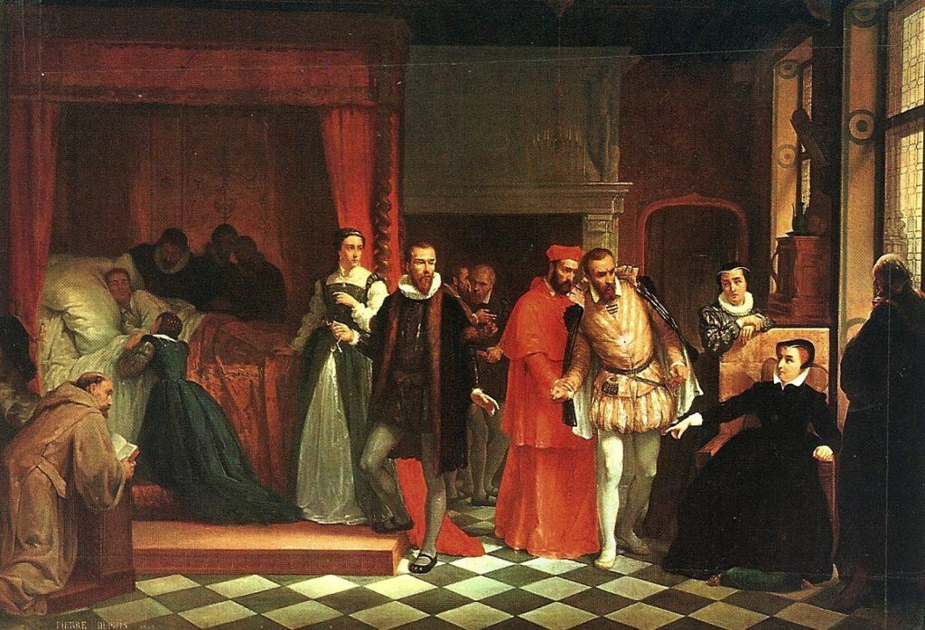 La mort de François II à Orléans - par Pierre Dupuy - 1865