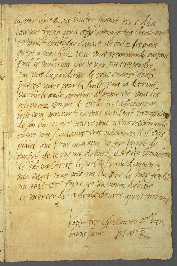 La dernière lettre de Marie Stuart à son beau frère, Henri III, roi de France - 1587 - page 3