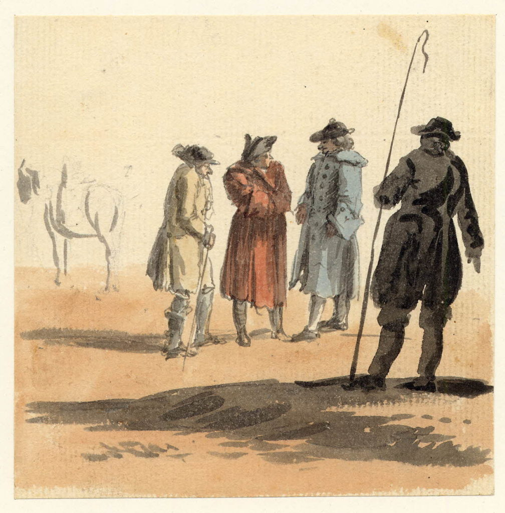 Scène de rue à Edimbourg - 1747-1751 - par Paul Sandby - British Museum - ref.Nn,6.11