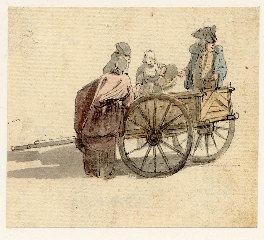 Scène de rue à Edimbourg - 1747-1751 - par Paul Sandby - British Museum - ref.Nn,6.13