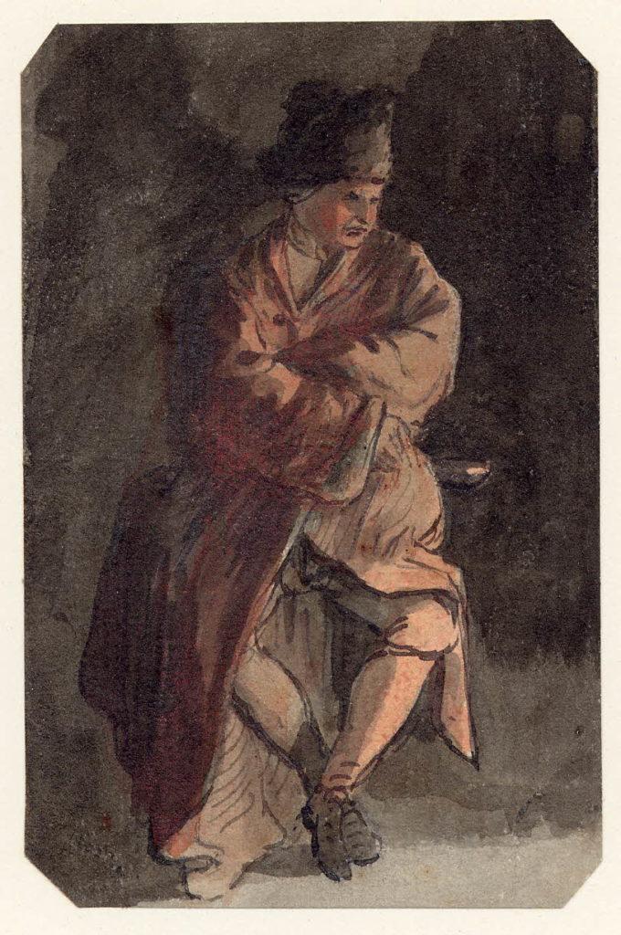 Un homme à Edimbourg - 1747-1751 - par Paul Sandby - British Museum - ref.Nn,6.15