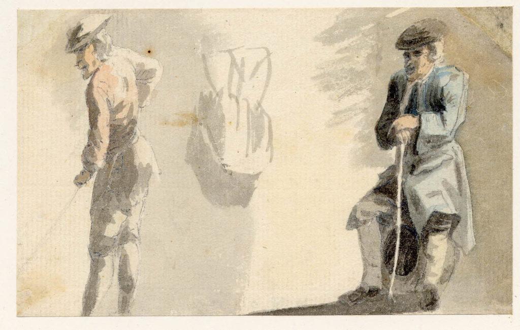 Scène de vie à Edimbourg - 1747-1751 - par Paul Sandby - British Museum - ref.Nn,6.17