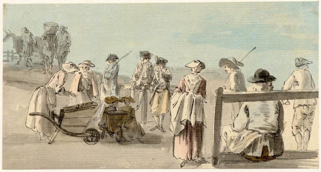 Scène de vie à Edimbourg - 1747-1751 - par Paul Sandby - British Museum - ref.Nn,6.2