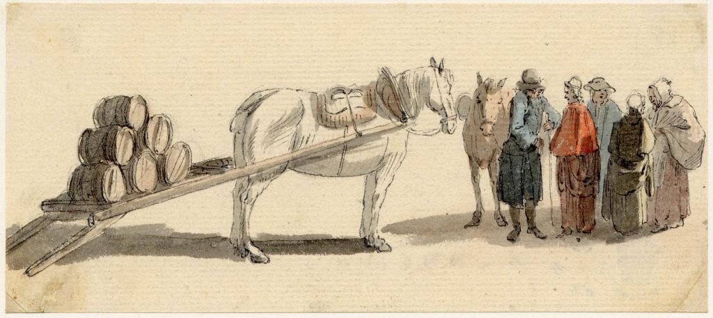 Scène de vie à Edimbourg - 1747-1751 - par Paul Sandby - British Museum - ref.Nn,6.20