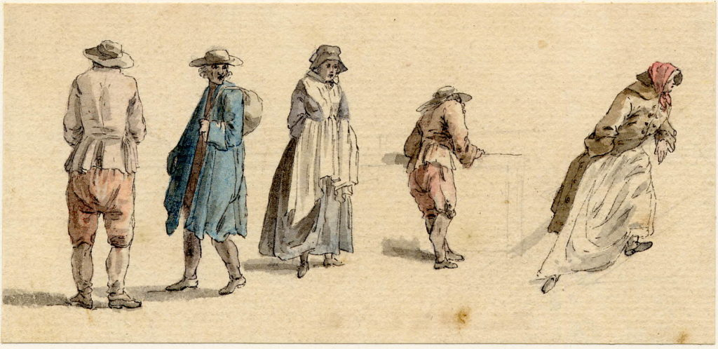 Scène de vie à Edimbourg - 1747-1751 - par Paul Sandby - British Museum - ref.Nn,6.22