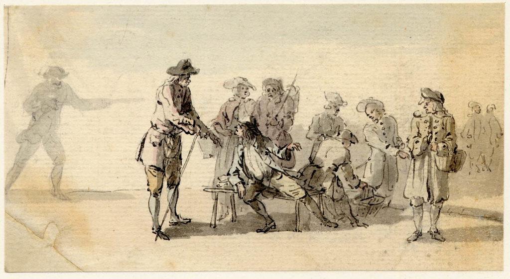 Scène au marché d'Edimbourg - 1747-1751 - par Paul Sandby - British Museum - ref.Nn,6.23