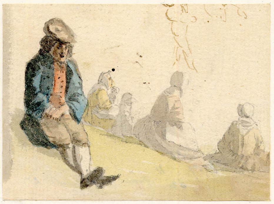Scène de vie à Edimbourg - 1747-1751 - par Paul Sandby - British Museum - ref.Nn,6.27