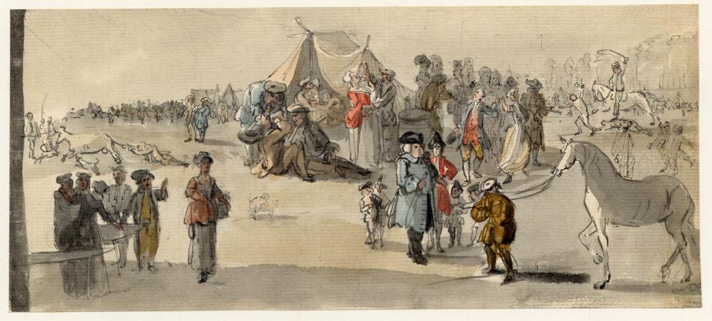 Une foire à Edimbourg - 1747-1751 - par Paul Sandby - British Museum - ref.Nn,6.40