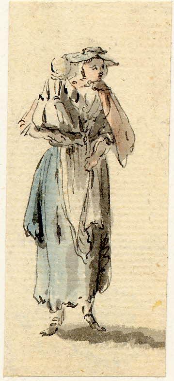 Une femme portant son enfant - 1747-1751 - par Paul Sandby - British Museum - ref.Nn,6.46