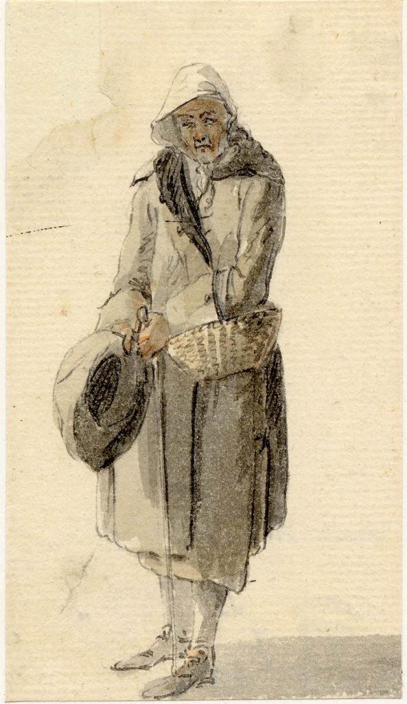 Un vieil homme d'Edimbourg - 1747-1751 - par Paul Sandby - British Museum - ref.Nn,6.49