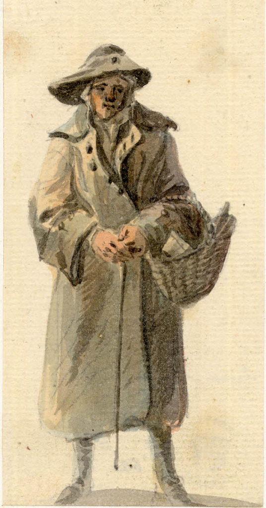 Un vieil homme d'Edimbourg - 1747-1751 - par Paul Sandby - British Museum - ref.Nn,6.50