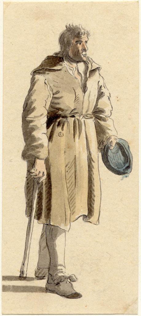Un homme d'Edimbourg - 1747-1751 - par Paul Sandby - British Museum - ref.Nn,6.51