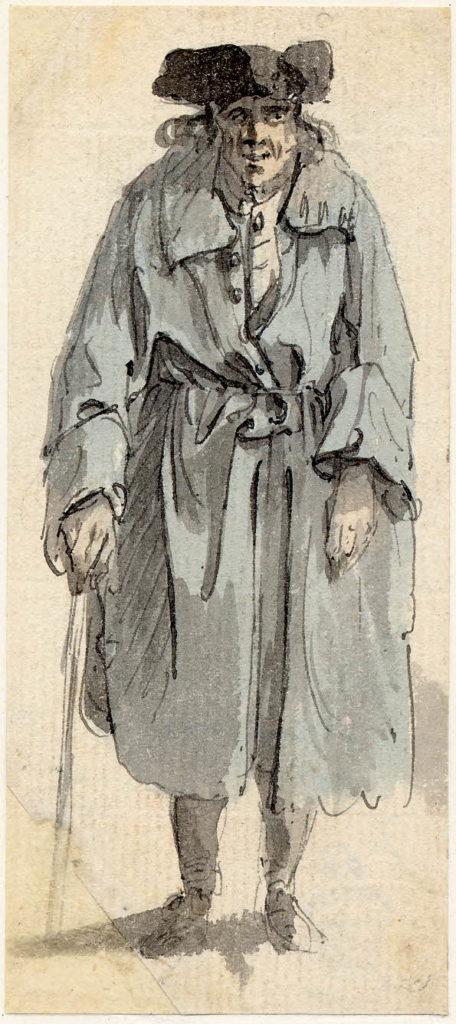 Un vieil homme d'Edimbourg - 1747-1751 - par Paul Sandby - British Museum - ref.Nn,6.52
