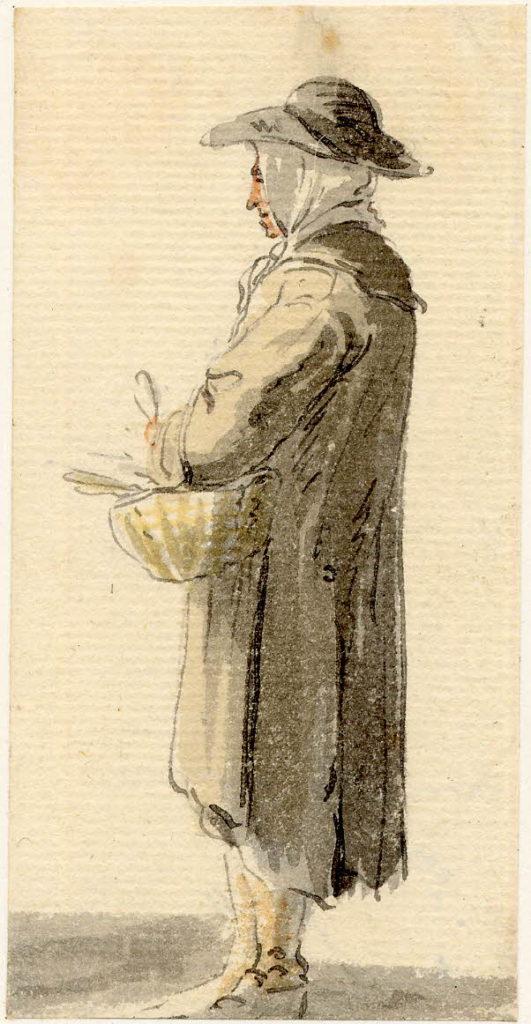Un vieil homme d'Edimbourg - 1747-1751 - par Paul Sandby - British Museum - ref.Nn,6.53