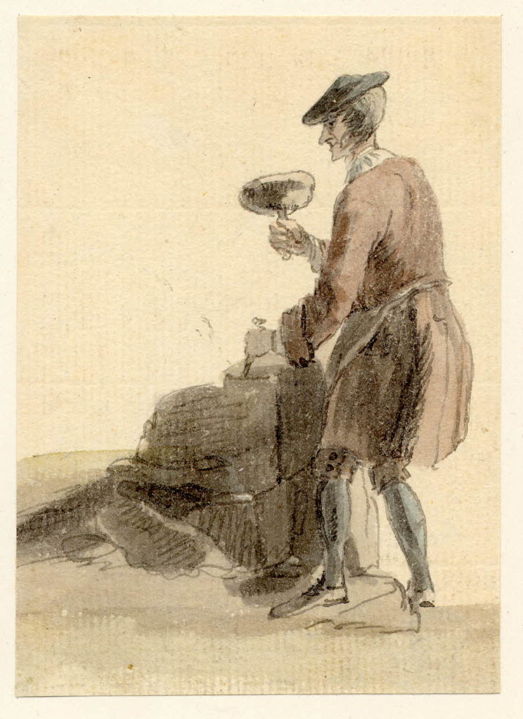 Un homme travaillant la pierre - 1747-1751 - par Paul Sandby - British Museum - ref.Nn,6.55