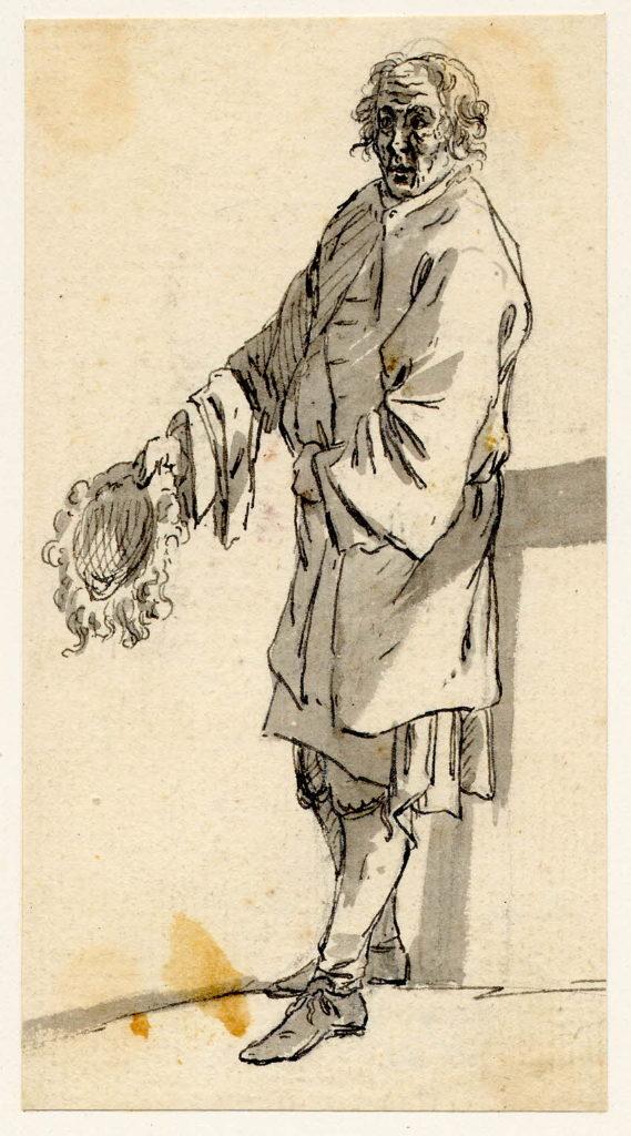 Un mendiant présentant sa perruque plutôt que son béret - 1747-1751 - par Paul Sandby - British Museum - ref.Nn,6.62