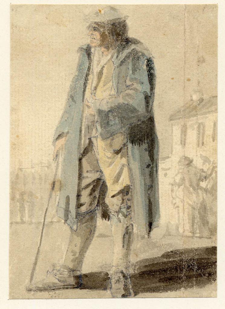 Un homme à Edimbourg - 1747-1751 - par Paul Sandby - British Museum - ref.Nn,6.66