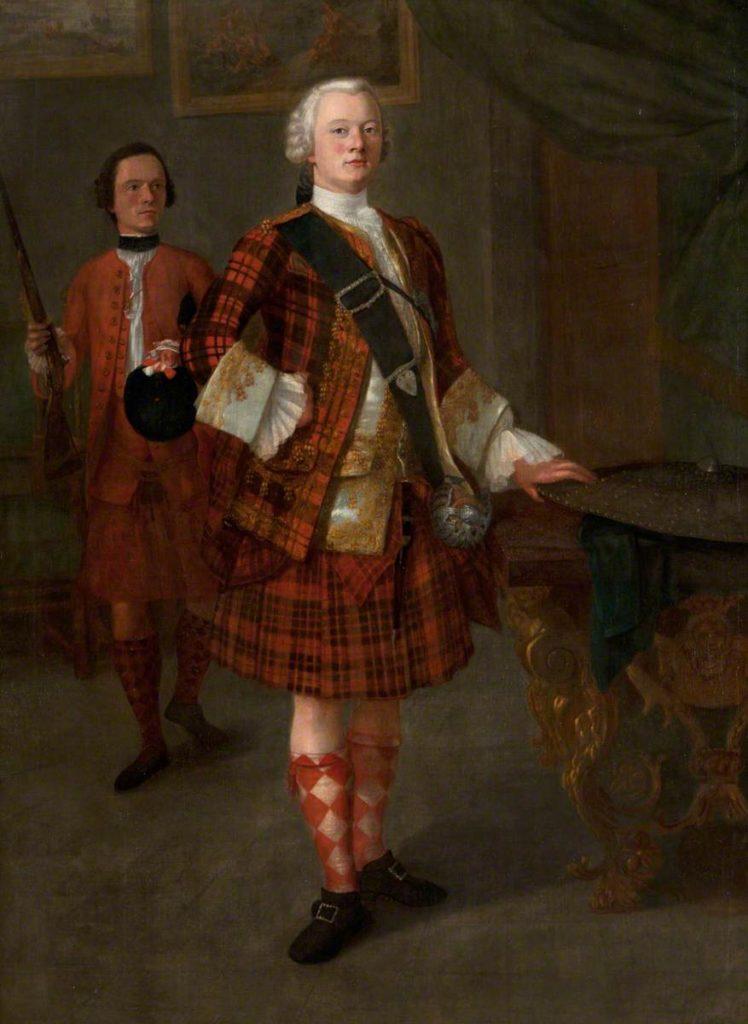 Alasdair Ruadh MacDonell (c.1725-1761), 13e Chef de Glengarry - vers 1750 - artiste inconnu (Museum of the Isles)