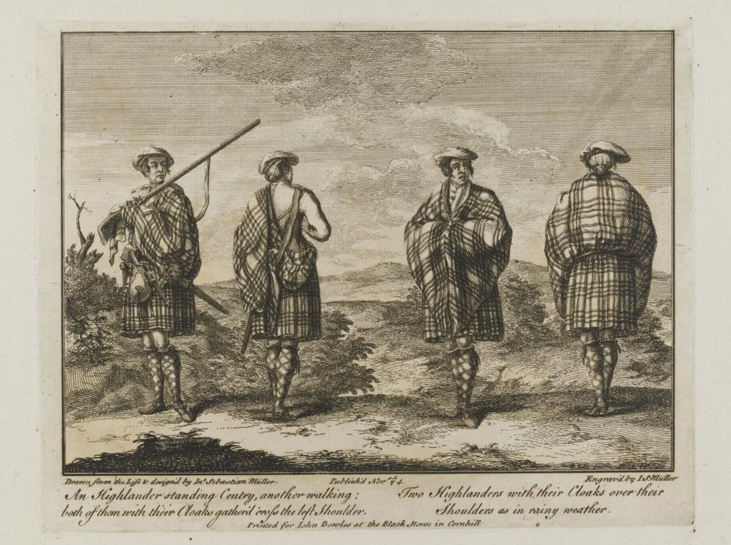 Sentinelles Highlanders - par I S Muller - 1774 - (National Museum of Scotland Ref. M.1966.110)
