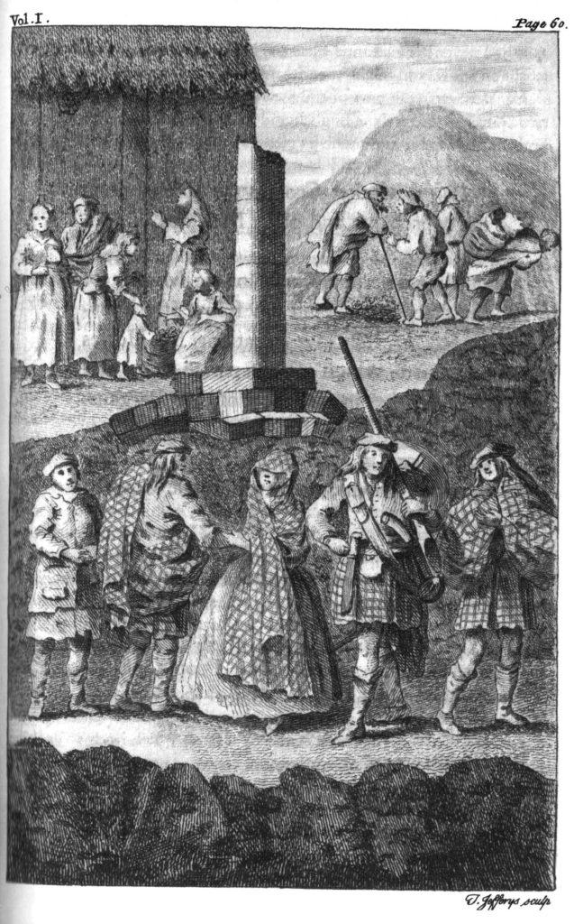 gravures présentes dans les lettres de Burt, vers 1730