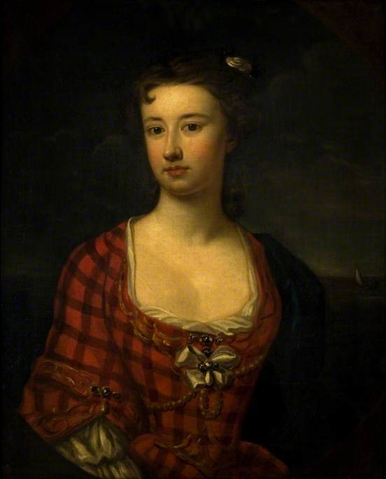 Flora Macdonald , par William Robertson, vers 1750, photo : Glasgow Museum