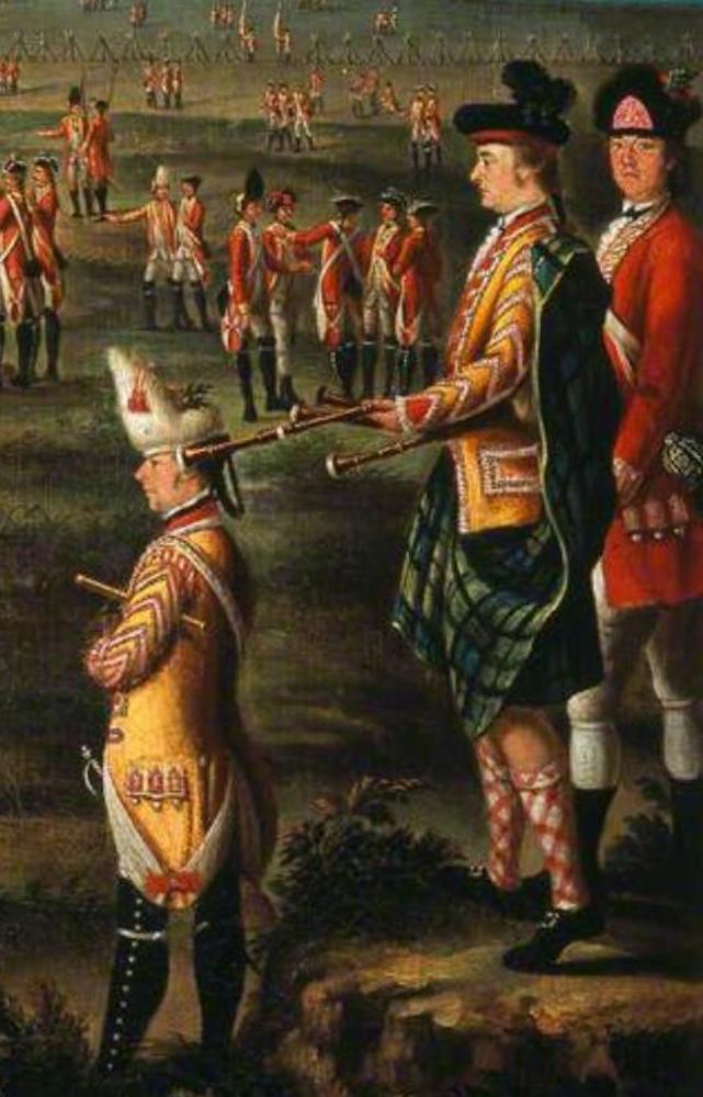 Lady Louisa Lennox et son mari, 25ème régiment d'infanterie, 1771 -détail de l'œuvre