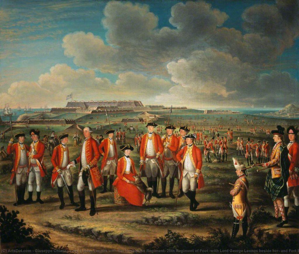 Lady Louisa Lennox et son mari, 25ème régiment d'infanterie, 1771