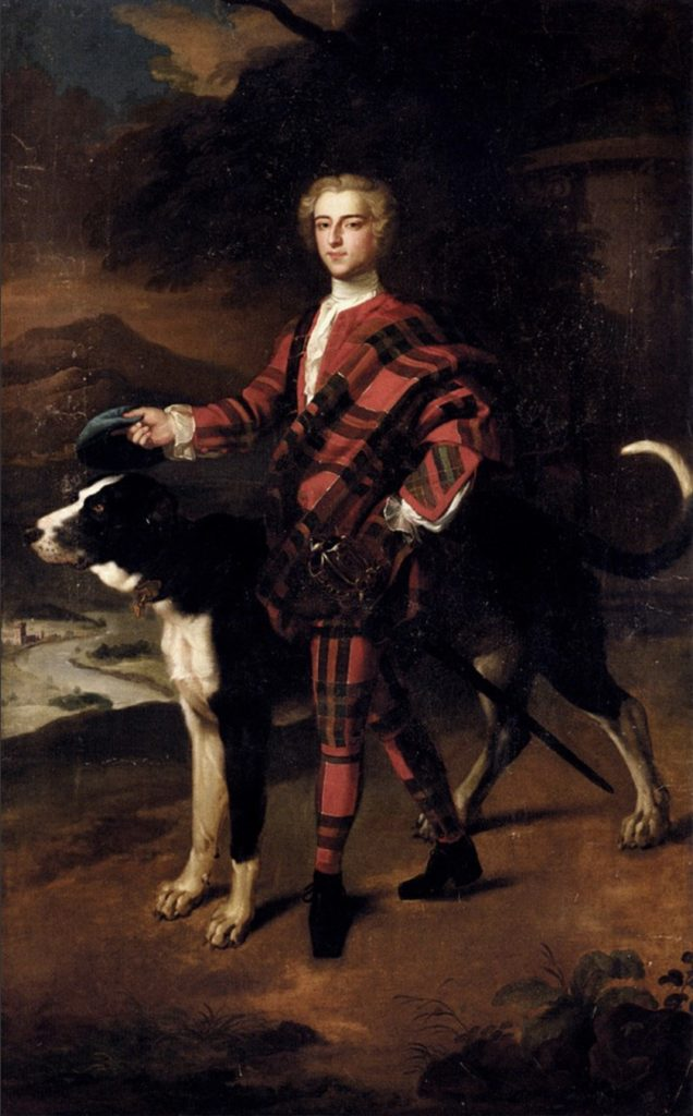 Jeremiah Davidson (1695-1745) - Un gentleman, possiblement un Campbell de Breadalbane, peint probablement vers 1740