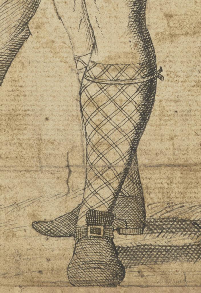 Malcolm McPherson, déserteur mort en 1743 - artiste inconnu - date inconnue (ref. PG 2298 National Galleries Scotland) - détail