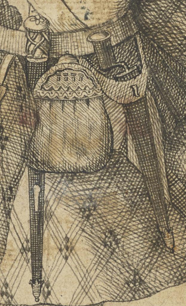 Malcolm McPherson, déserteur mort en 1743 - artiste inconnue - date inconnue (ref. PG 2298 National Galleries Scotland) - détail du sporran