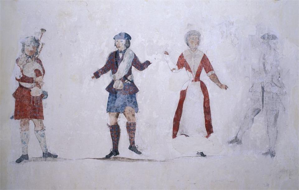 Peinture murale du château de Loevestein - artiste inconnu - vers 1750