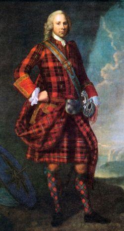 par Jeremiah Davidson, Moray Abercairney, vers 1739